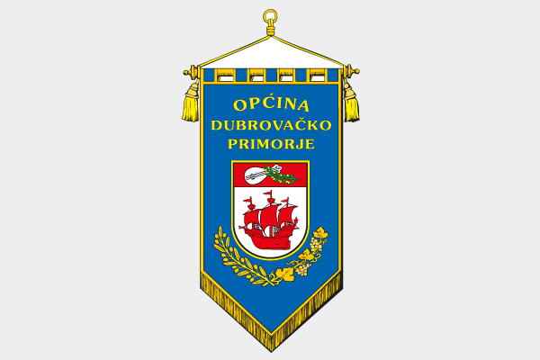 Općina Dubrovačko primorje - gonfalon